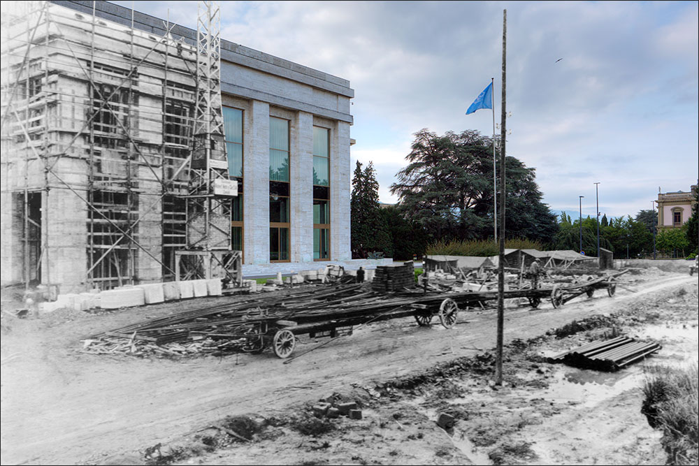 Palais des Nations under construction - 11 May 1932